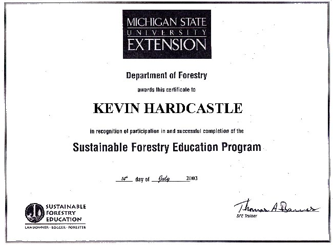 Sustainable Forestry Certificate